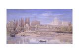 Tiber River at Prati Di Castello, Rome Kunstdrucke von Gaspar van Wittel