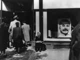 Portrait of Stalin in Prague Store Window at the Time of the Communist Coup D'Etat of February 1948 Posters