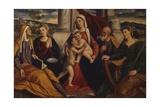 Holy Family with Saint John the Baptist, 1st Half of 16th C., Italy Poster von Bonifacio Veronese