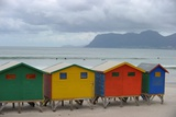 Colorful Strandhaeuser (Beach Houses) in Capetown, South Africa Foto