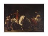 Bernabo Visconti and Farmer Who Accompanied Him to Marignano Castle Posters by Pasquale Vianelli