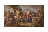 Rebecca at the Well with Abraham's Servant Arram Prints by Gaetano Zompini