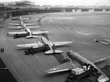 C-47S Unloading at Tempelhof Airport During the Berlin Airlift, June-August 1948 Photo