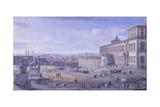 Square and Montecavallo Palace, Rome Kunstdrucke von Gaspar van Wittel