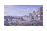 Square and Montecavallo Palace, Rome Prints by Gaspar van Wittel