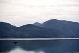 A Fisherman in a Boat in Walchensee, Upper Bavaria Photo