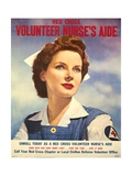 U.S. Recruitment Poster for Red Cross Volunteer Nurse's Aide During World War 2, June 1943 Print
