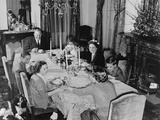 California Governor Earl Warren's Family Has Dinner at the State Executive Mansion in Sacramento Print