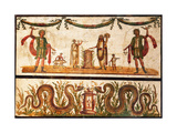 Lari Sacrificing and Agathodemon Snakes at Altar, C.55-79 Print