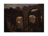 Bacchanal in Classical Ruins Poster by Tommaso Formenti