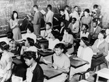 African American Students in a Segregated French Class at Dunbar High School, Washington, D.C. Posters