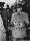 Gen. Dwight Eisenhower Reacts to Macarthur's Dismissal by Truman, April 11, 1951 Prints