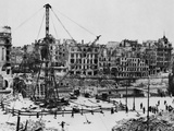Bombed Buildings Along Vienna's Franz Josef Quay in Vienna Photo