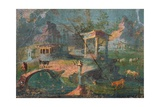 Landscape with Temple, Statue, Herders, and Animals, C. 50-79 Prints