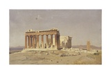 The Parthenon Poster by Alberto Pasini