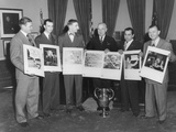 President Harry Truman with Photographers and their Winning Photographs Photo