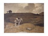 Rich Spoils, Friar and Donkey in a Landscape Poster von Lorenzo Veneziano