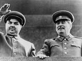 Joseph Stalin and Georgi Malenkov, Watching May Day Parade in Moscow in 1949 Photo