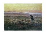 Evening Roll Call (Shepherd and Goats at Dusk) Posters by Antonio Ballero
