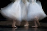 Long Exposure of Ballerinas Performing 'La Sylphide' at the Deutsche Opera, Berlin Posters
