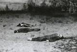 Soviet Partisans Shot Dead by German Soldiers During German Invasion of Russia in Summer 1941 Posters
