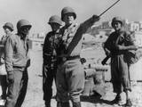 Lt. General George Patton Leading Invasion Troops in Sicily. July 11, 1943 During World War 2 Photo
