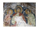Deesis, Christ with Mary and John Detail of Fresco Posters