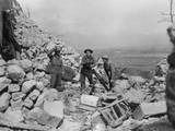 New Zealand Mortar Crew in Cassino Ruins Posters