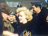 Marilyn Monroe Wearing a Jacket with the 'Mosquito' Patch of the 6147th Tactical Control Group Photo