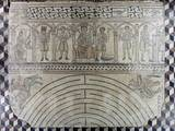 Mosaic Floor with Labyrinth and Personification of the Months Photo