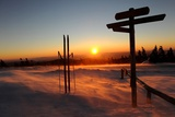 Sunrise on the Highest Harz Mountain, the Brocken, January 12, 2009 Photo