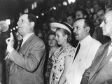 Argentine President Juan Domingo Peron Addressing an Assembly in Buenos Aires Photo