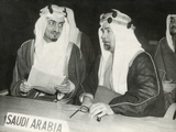 Saudi Arabian Delegates to the United Nations Session in London, Jan. 17, 1946 Photo