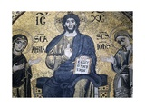 Mosaic of Enthroned Christ, Virgin and St. John Evangelist, 1207 Posters