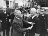 President Harry Truman Awarding Admiral Chester Nimitz a Gold Star at the White House Photo