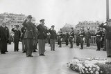 Generals Dwight Eisenhower and Charles De Gaulle Salute the Tomb of the Unknown Soldier in Paris Photo