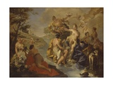 Diana with the Nymphs and Actaeon Devoured by Dogs Prints by Giambattista Pittoni