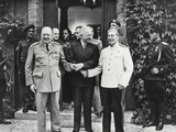 Joseph Stalin, Harry Truman, and Winston Churchill at the Potsdam Conference Photo