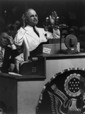 President Harry Truman Delivering His Acceptance Speech at Democratic National Convention Photo