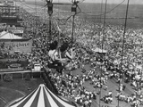 Beach Crowds as Seen from the Parachute Jump at Steeple Park, Coney Island, NY, 1950 Photo