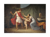 Pirro Threatens Astyanax, Who Runs to His Mother's Arms, Abbondio Bagutti, 1814-15 Prints by Abbondio Bagutti