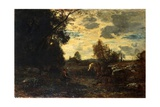 Landscape, Morning in October Giclee Print by Antonio Fontanesi