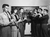 High School Students Playing Clarinets and Trumpets. Oak Ridge, Tennessee Photo by Ed Westcott