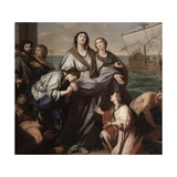 Departure of Saint Paula of Rome for Holy Land Prints by Giuseppe Bottani