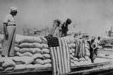 Sacks of Flour, the First Relief Supplies from the United States Prints