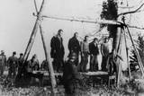 Five Soviet Civilians to Be Hanged by German Soldiers, Near Town of Velizh in Smolensk Region Prints