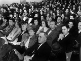 White Citizens at a Property Tax Town Meeting on April 7, 1947 Photo by Ed Westcott