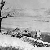 Two Un Soldiers Gaze across the Yalu River to the Mountains of Manchuria on Nov. 21, 1950 Photo