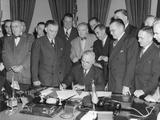 President Harry Truman Signs Act Establishing Upper Colorado River Basin Compact Photo