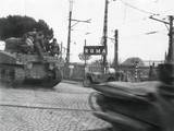 American Tanks of the Fifth Army Passing Big Signs for 'Roma' at Edge of th Photo